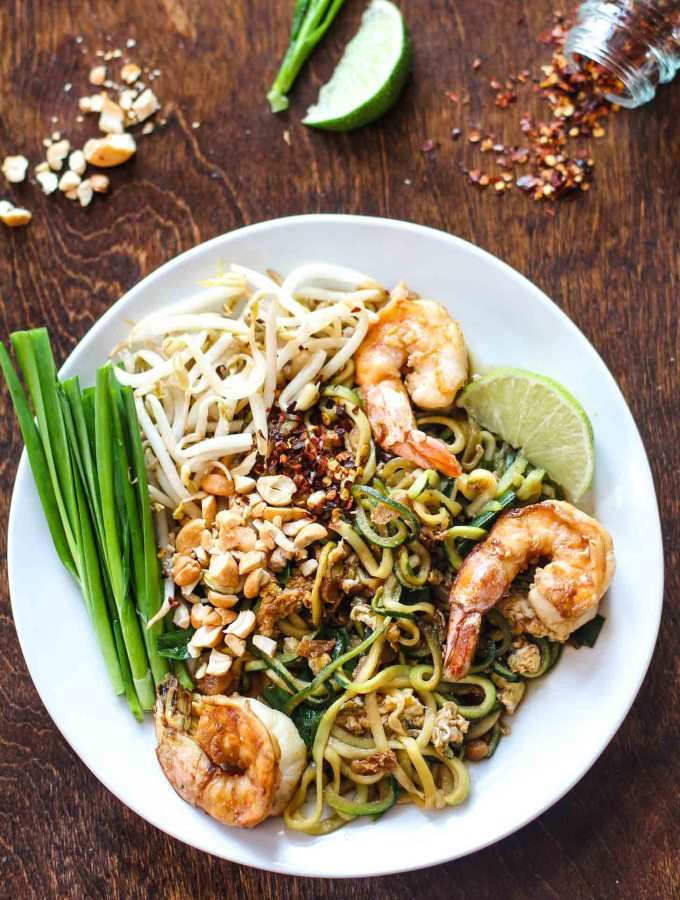 Paleo Pad Thai with Zucchini Noodles