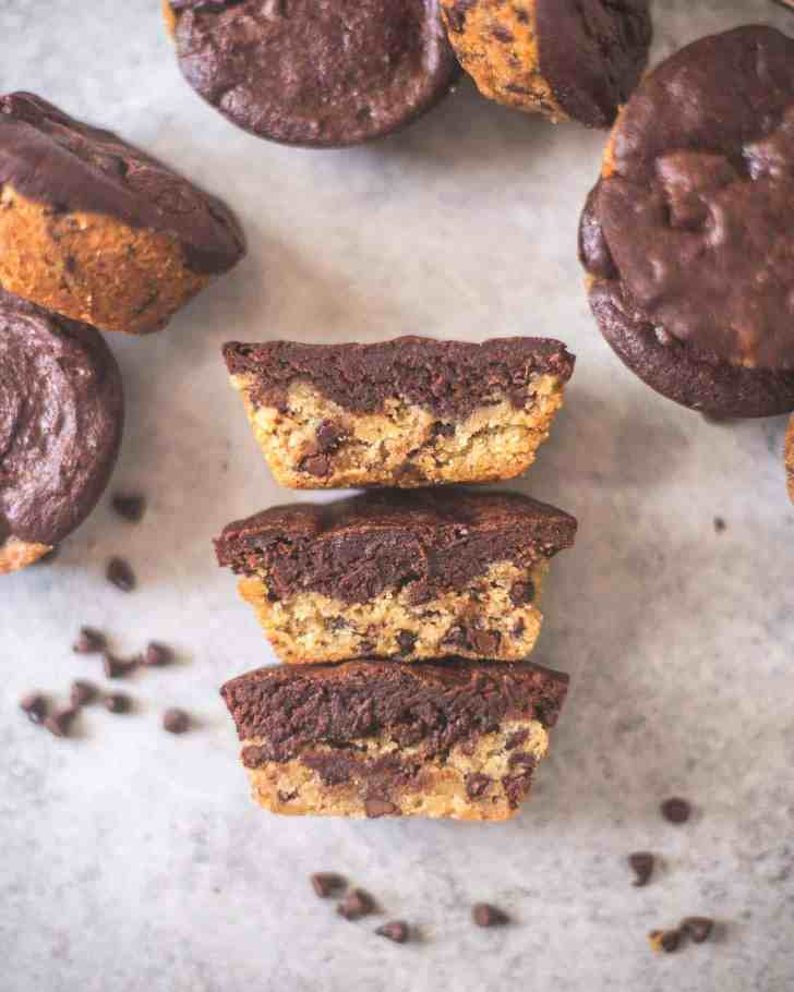 Thick and Chewy Chocolate Chip Cookie Brownies
