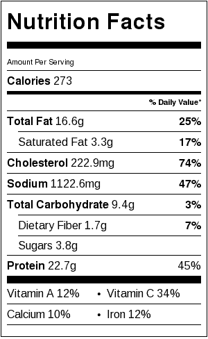 Paleo Pad Thai Nutrition Information