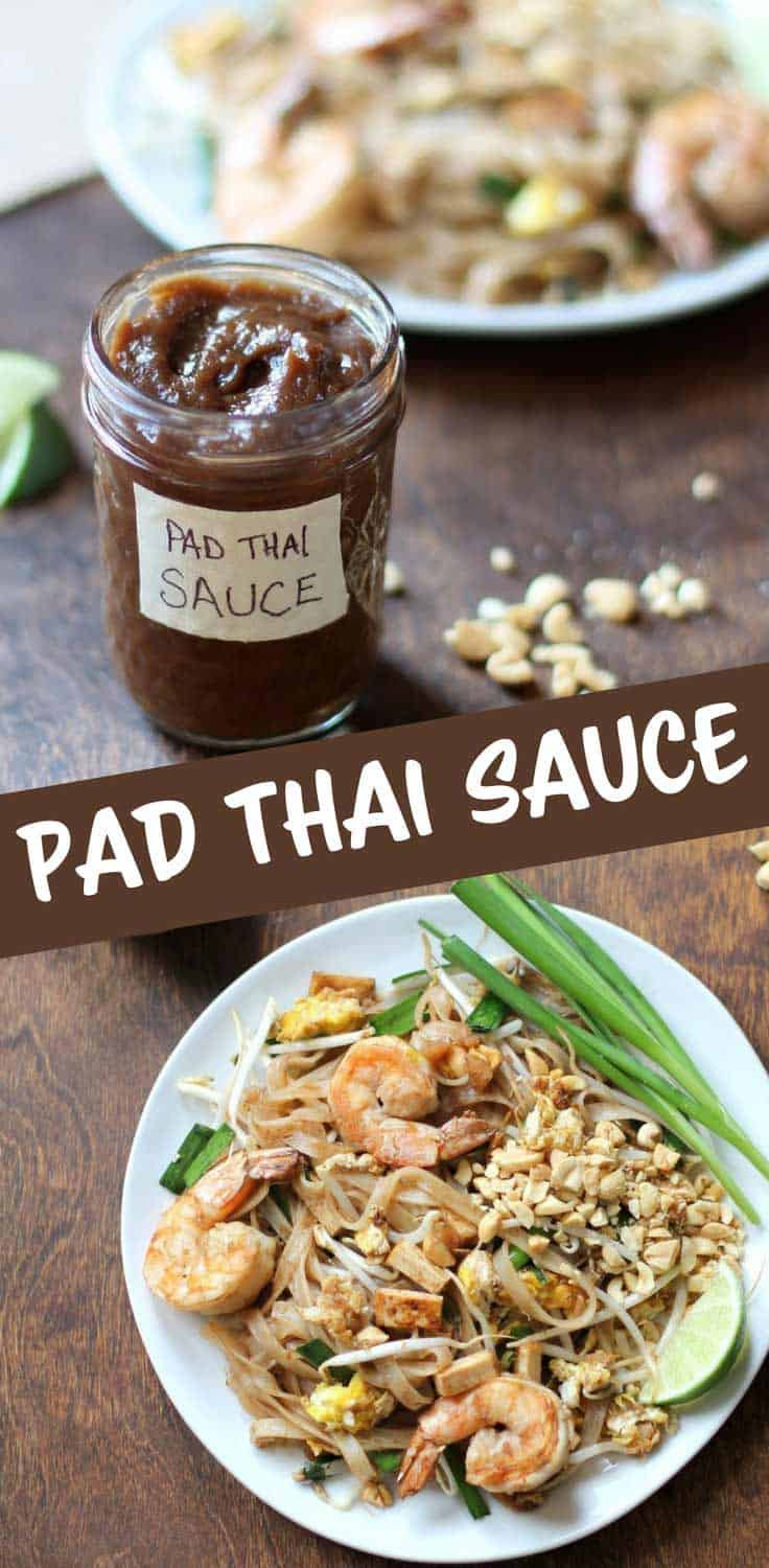 Pad Thai Sauce - To make authentic Pad Thai at home, all you need is this 4 ingredient sauce pad thai sauce. (BONUS: Includes paleo, gluten-free, vegan/vegetarian options)