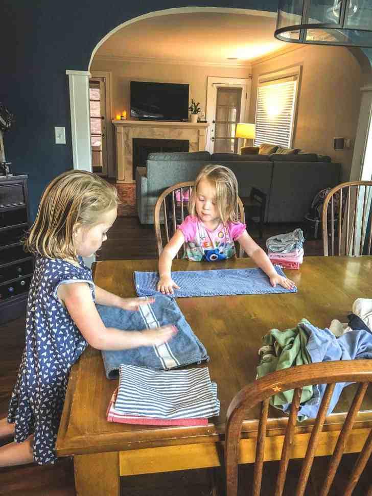 Molly and Clara_Folding Laundry