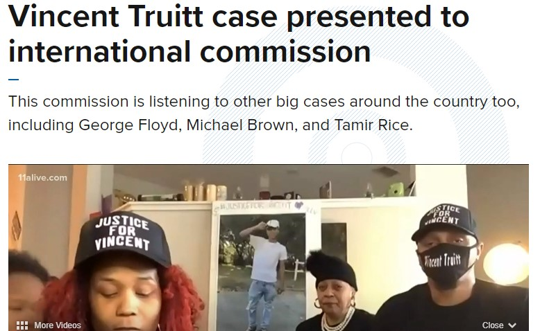 Report: Vincent Truitt case presented to international commission