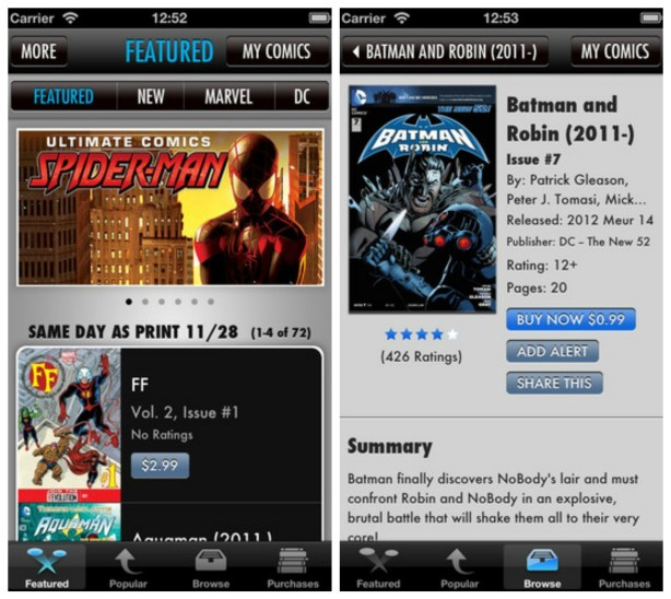 Apple App for Comixology