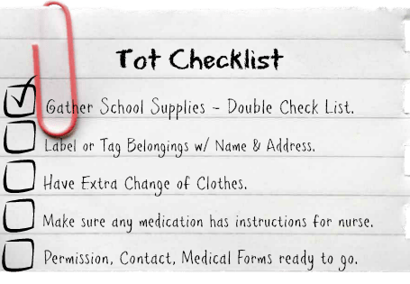 Back-to-School Checklist for Tots