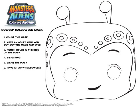 Monsters vs Aliens Squeep Mask