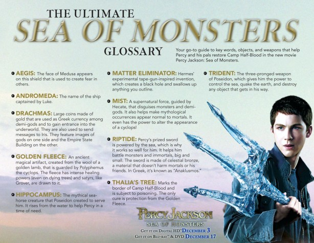 Percy Jackson Sea of Monsters Glossary