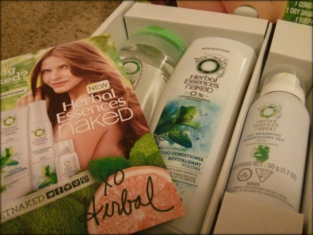 Herbal Essences Naked Hair Collection box