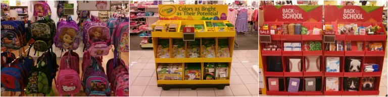 Kohl's back-to-school stands