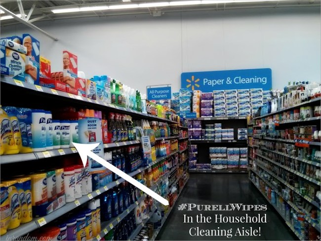 Purell in the Walmart Cleaning Aisle #ad