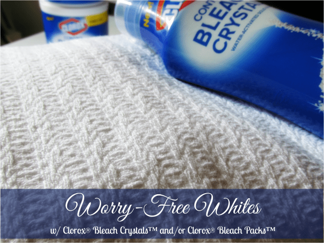 New Clorox® Bleach Crystals™ & Clorox® Bleach Packs™