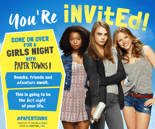 Paper Towns Girls Night Out Invite