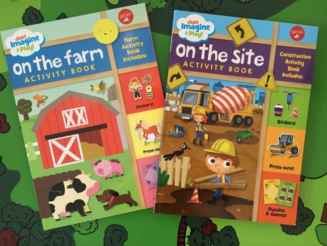 On the Site & On the Farm Activity Books For Preschoolers