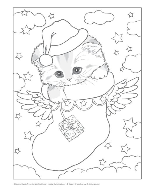 Christmas Coloring Books that Are Purr-fect for the Howl-idays!