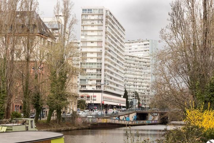 Rennes, les bords du canal de l'Ille à Rennes