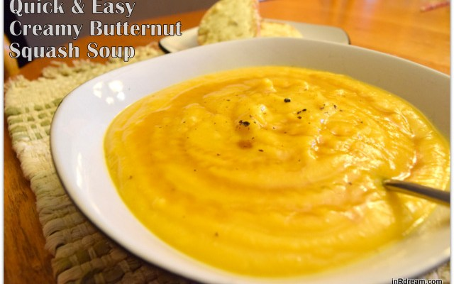 Creamy Butternut Squash Soup Recipe #CarnationSoups