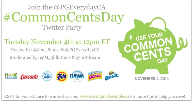 Use Your Common Cents Day – Twitter Party RVSP #CommonCentsDay #PGmom