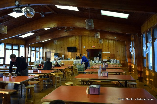 Family Day weekend 2015 Ontario Pioneer Camp. Dining Hall