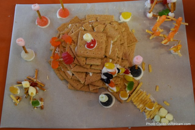 Family Day weekend 2015 Ontario Pioneer Camp. Gingerbread igloo
