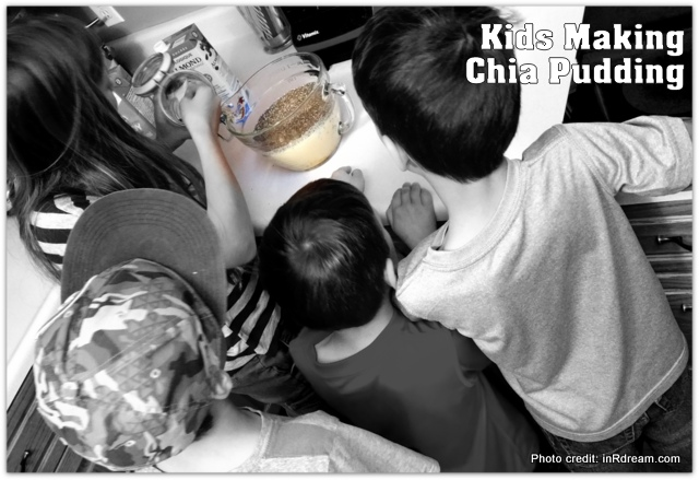 Kids making Chia Pudding, Chia pudding recipe, how to make chia pudding