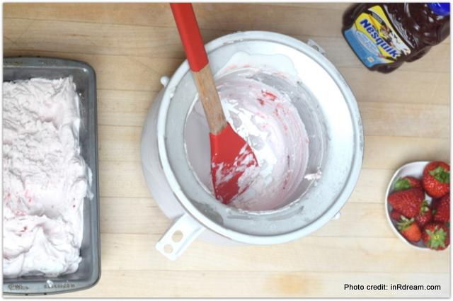 Coconut Ice Cream Recipe, NESQUIK Chocolate Covered Strawberry Swirl Coconut Ice Cream Recipe, Dairy free ice cream recipe, How to make coconut ice cream, Stir Things Up, Nesqik ice cream