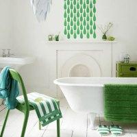 Grönt är skönt i badrummet