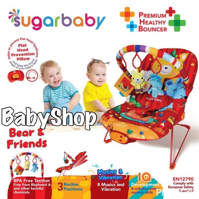 Ayunan Bayi Modern Sugar Baby Premium Healthy Bouncer Musical Deluxe