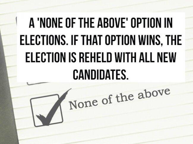 Penemuan Baru di Indonesia: Pilihan tambahan pada pemungutan suara