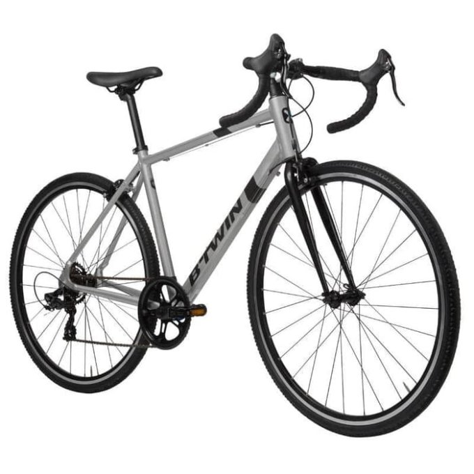 Sepeda hybrid BTwin Triban 100