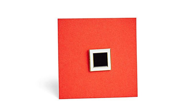 Pin Black Square by Heart of Moscow