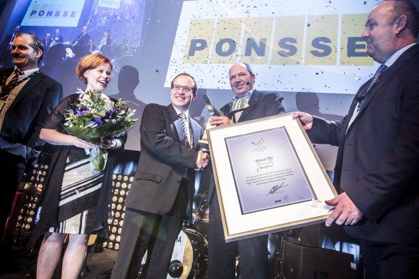 Ponsse wins Swedish Steel Prize 2015