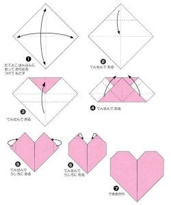 Instructions for Origami hearts were taken from http://www.origami-club.com/valentine/easyheart/easyheart/index.html