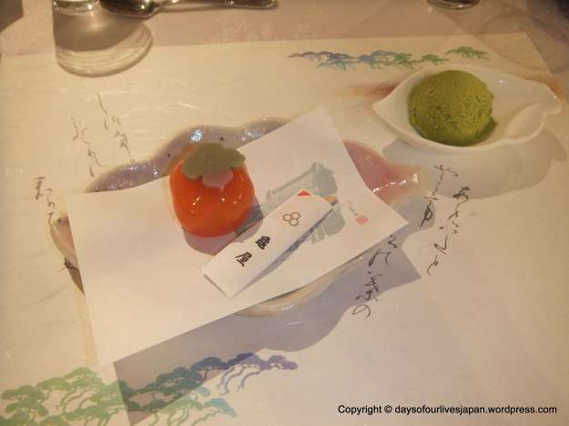 Dessert of dinner on day 3 from a famous store in Kawagoe