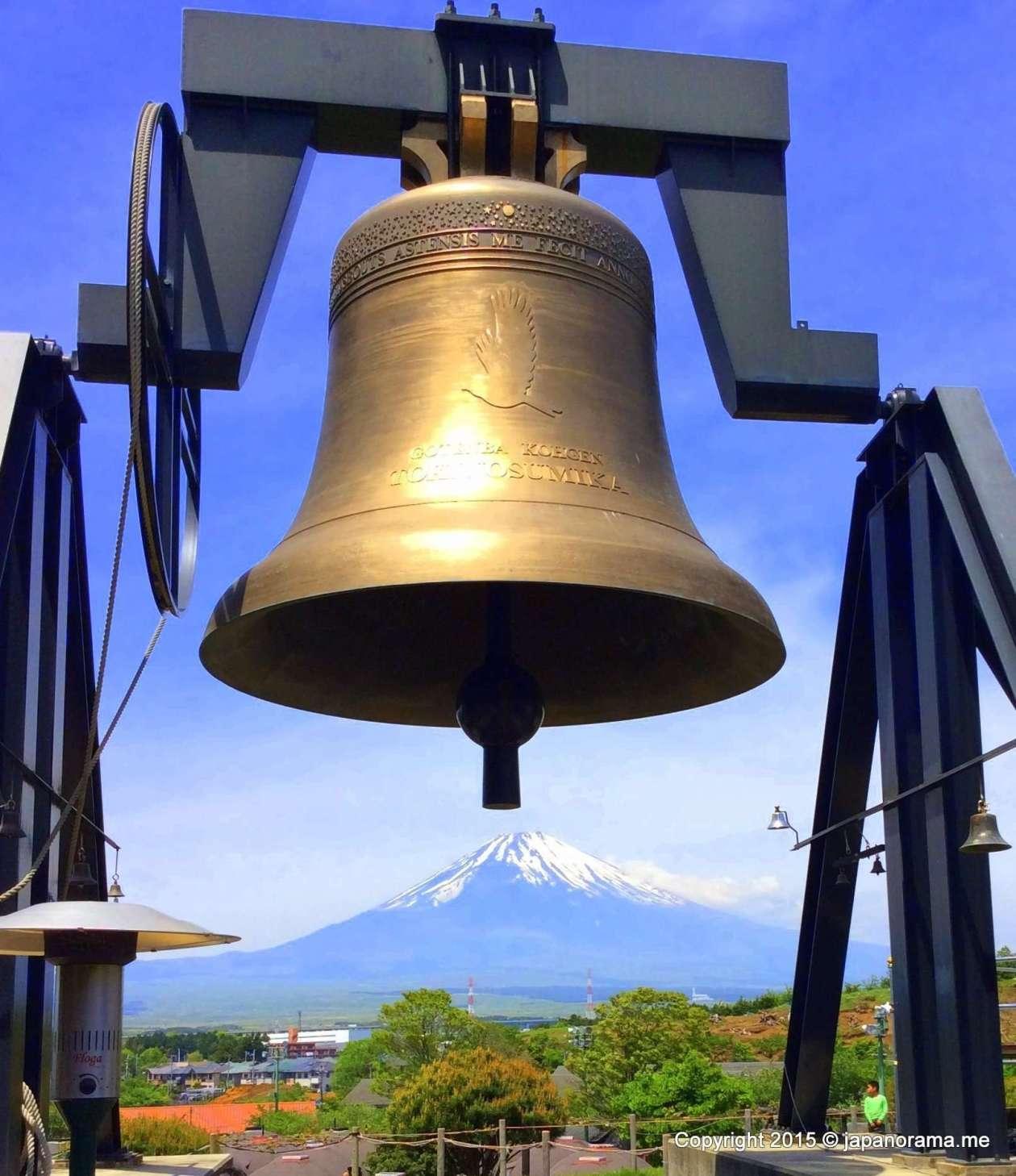 Mt Fuji under the Love Bell