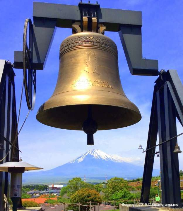 Mt Fuji under the Love Bell