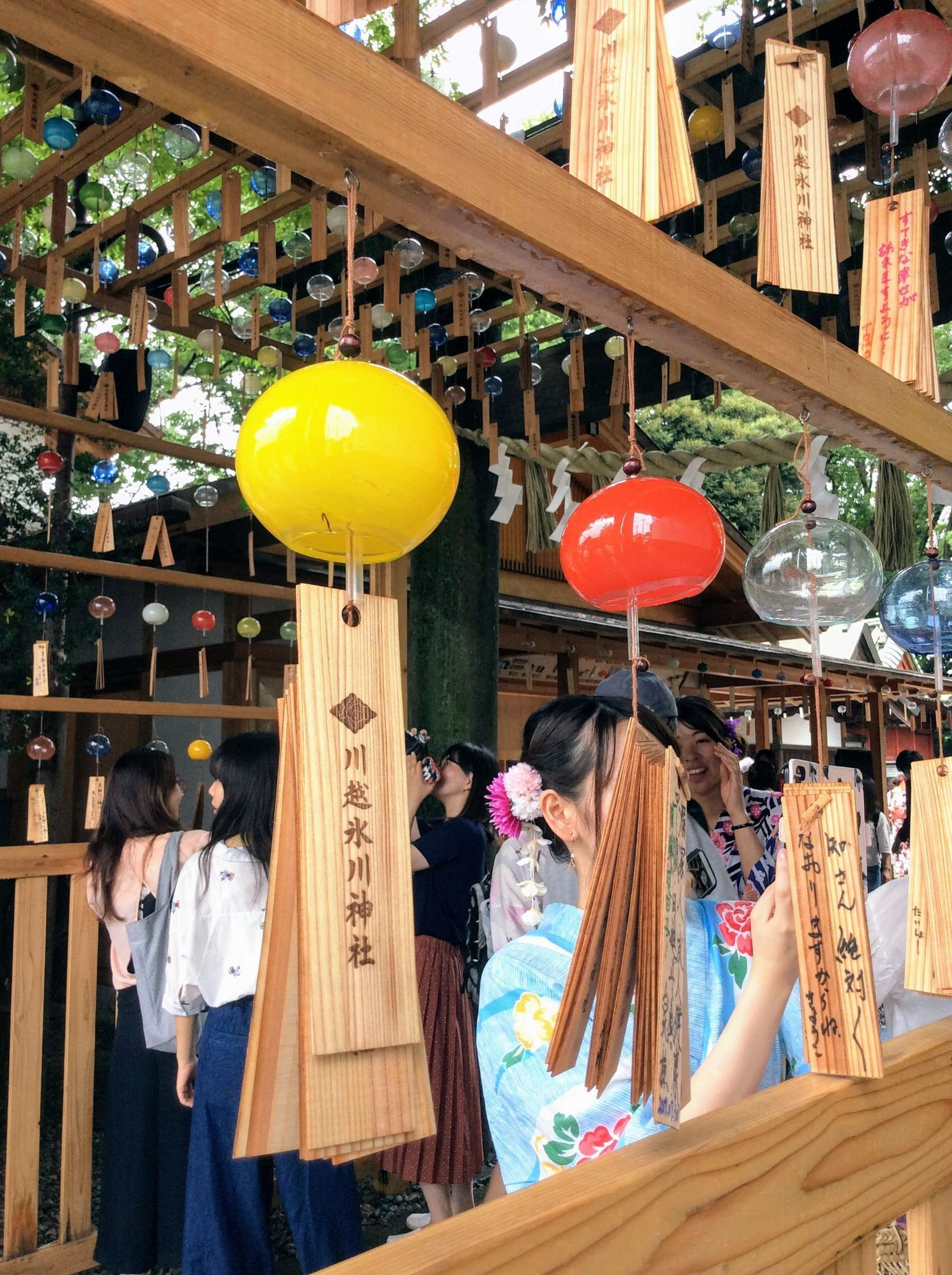Wind chimes at Kawagoe HIkawa Shrine