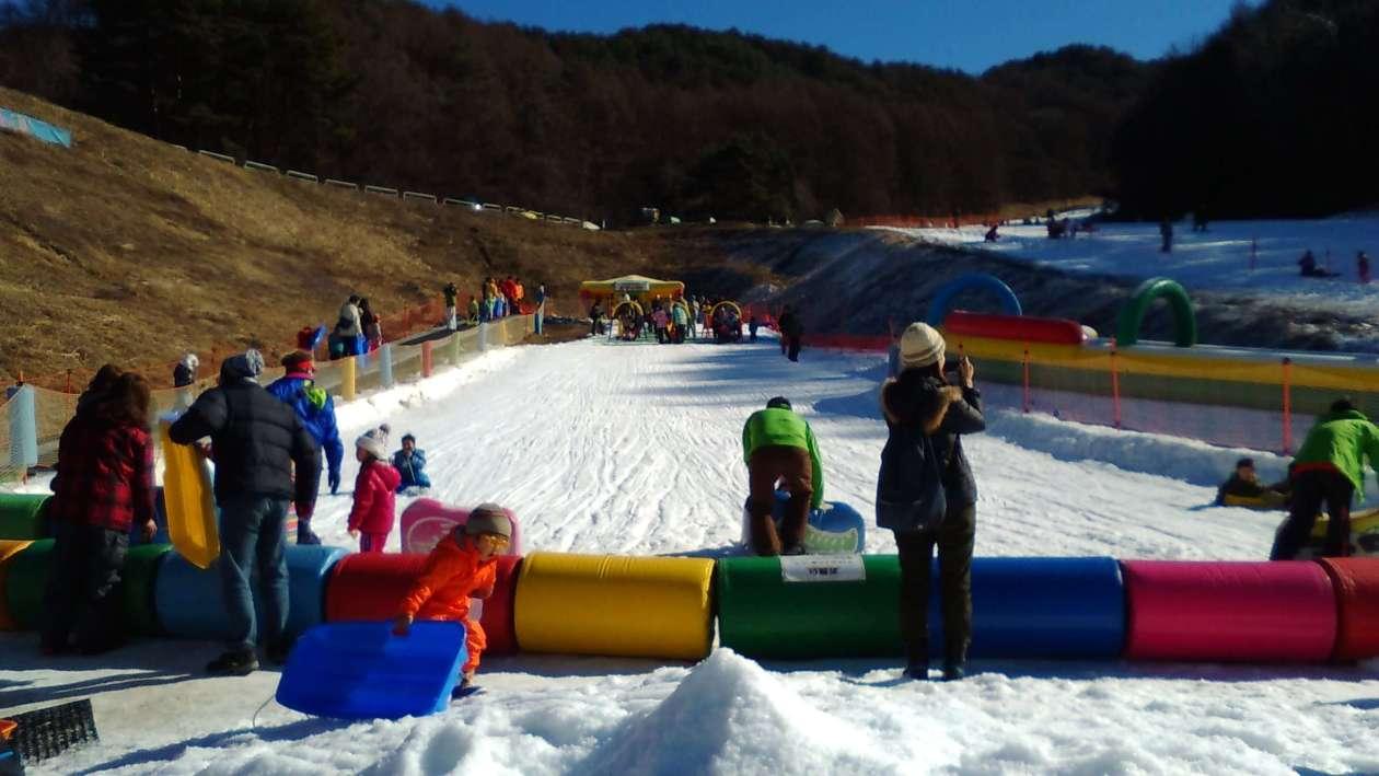 Parking area ski resort