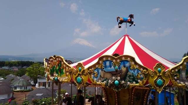 Carousel and Mt Fuji at the big bang playground