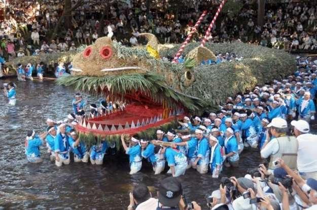 "Award Winning, Intangible Asset ""Suneori Amagoi"", Rain Praying Festival | TSURUGASHIMA"