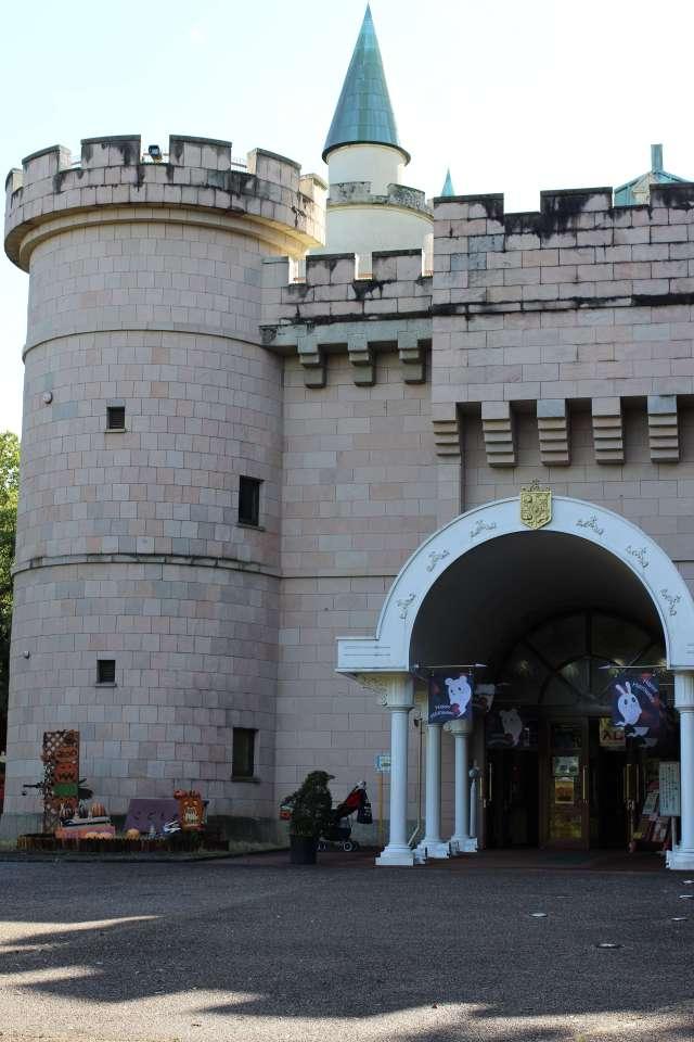 The Children's Castle at Saitama Children's Zoo decorated for Halloween