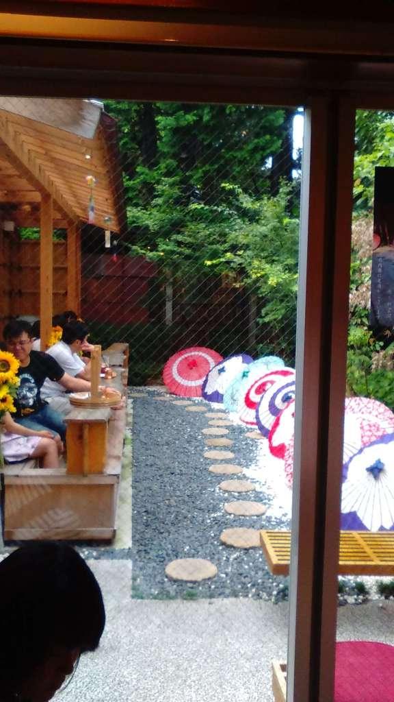 Foot spa cafe in Kawagoe's Tsubaki no Kura