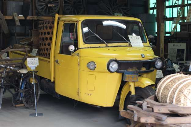del boy van at storyteller museum santome