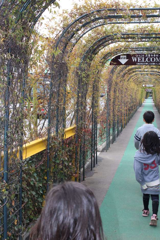 Tunnel to storyteller museum and kunogi no mori environmental school in santome