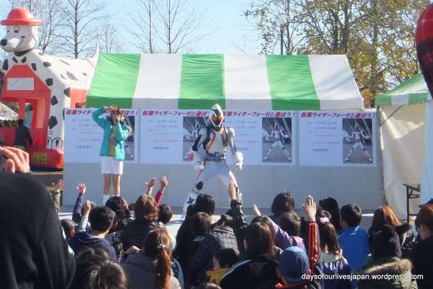 Ultraman character show heisei no mori park children festival