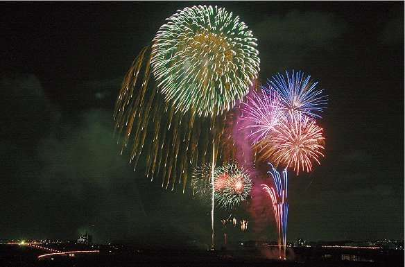 Misato Summer Festival Fireworks