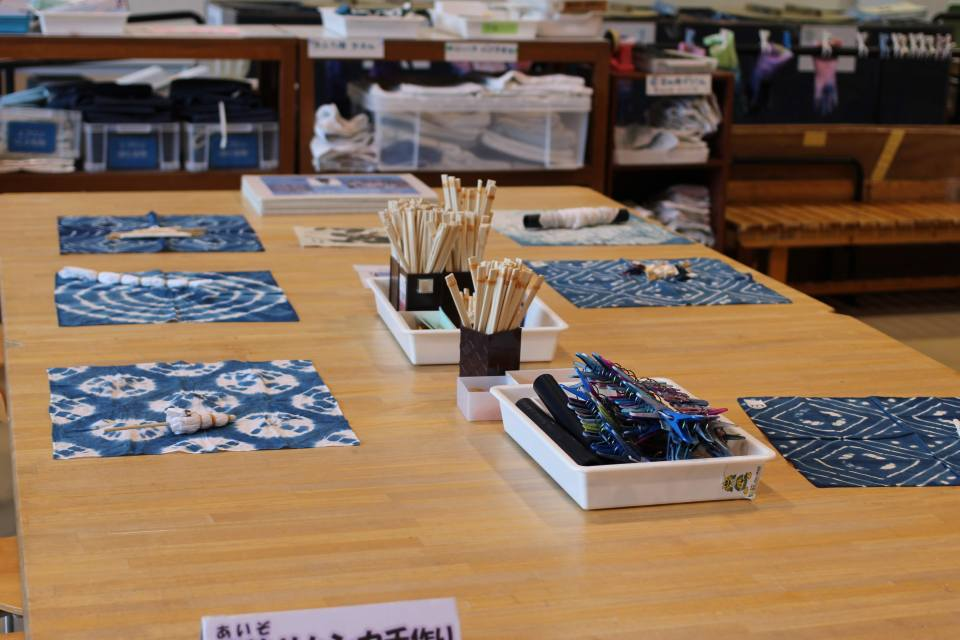 Tye dye craft at Saitama History and folklore museum in omiya Park