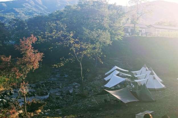 Glamping site at Akari Campsite