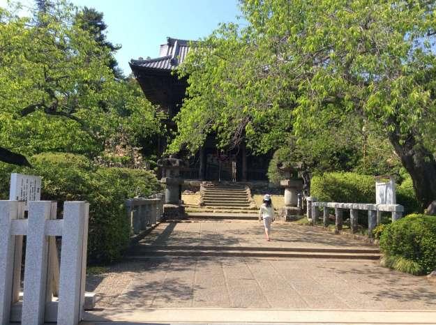 Bridge leads to the ancient gate of Shoden Temple, Hidaka, Saitama