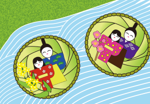 Sandawara floating dolls iwatsuki