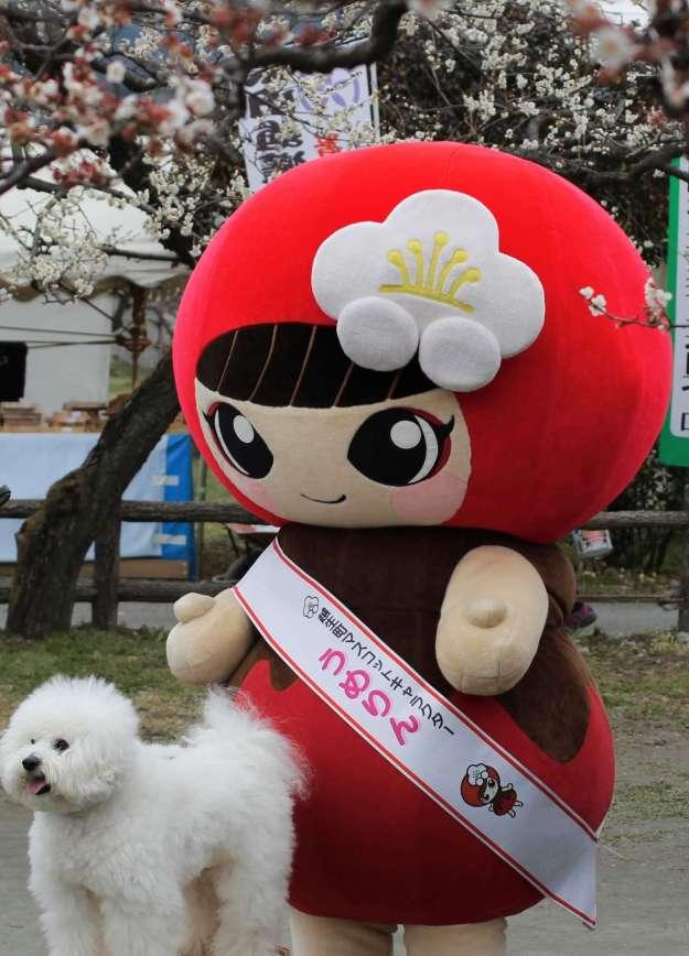 Ogose Town Mascot Umerin at Ogose Bairin