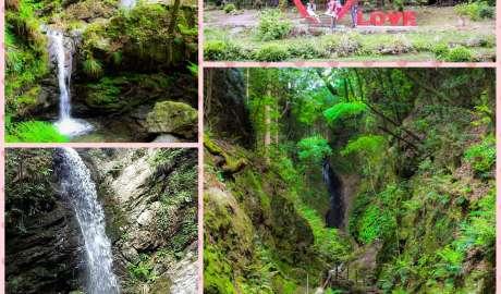 the three waterfalls of Kuroyama